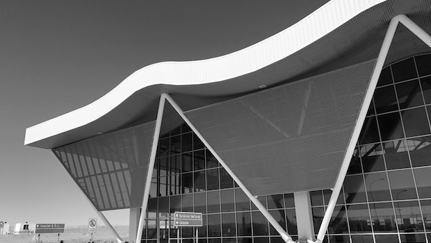 The Calama airport in Chile is an architectural beacon.