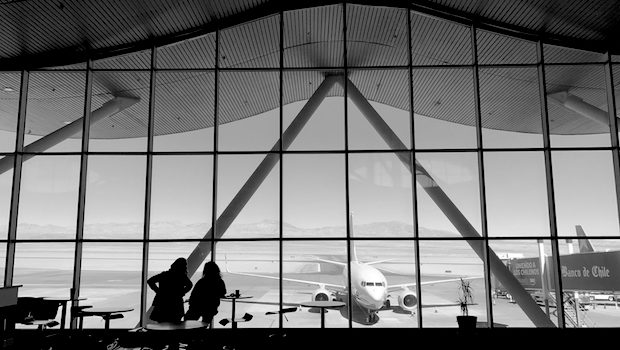 Plane spotting is a pleasure at Calama airport in Chile.