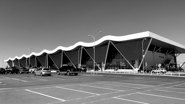 The Calama airport terminal in Chile opened in 2014.