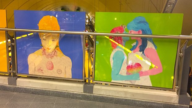 Original artwork graces the Buenos Aires station named for LGBT activist.