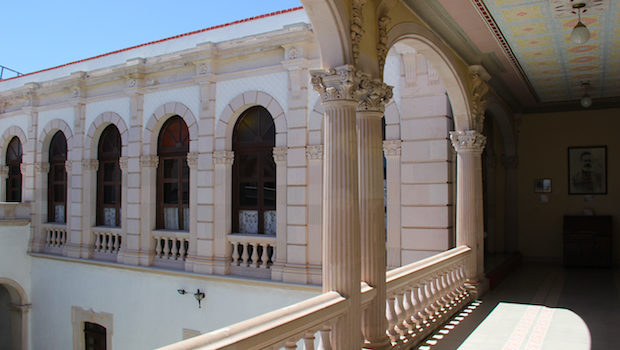 Pancho Villa's former home has elegant architecture in Chihuahua.