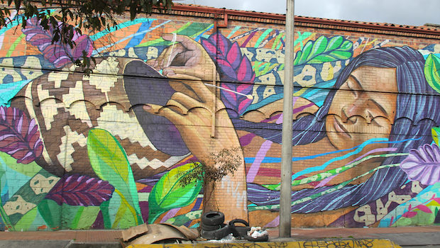 Each work of street art and graffiti in Bogota is open to interpretation.