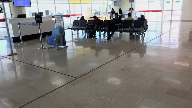 Time to travel: Boarding gate at the Chihuahua airport in Mexico.