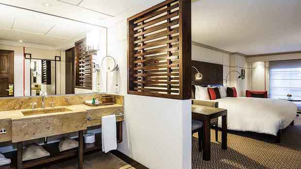Guest rooms are freshly styled at the Sofitel Victoria Regia Bogota hotel.