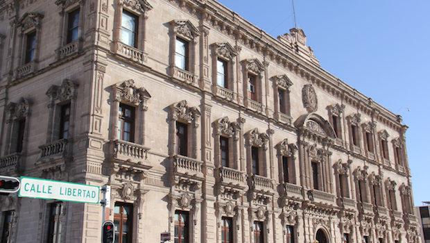 The government palace boasts stately architecture in Chihuahua.