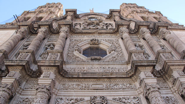 The Chihuahua cathedral was built between 1725 and 1826.