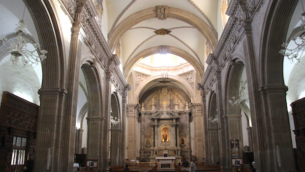 Interior of the cathedral in Chihuahua, Mexico.