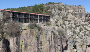 Sleeping on a cliff: Hotel Divisadero is right on the edge of Mexico's Copper Canyon.