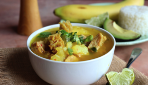 Sopa de mondongo is a top Colombian food — and it's quite tasty!