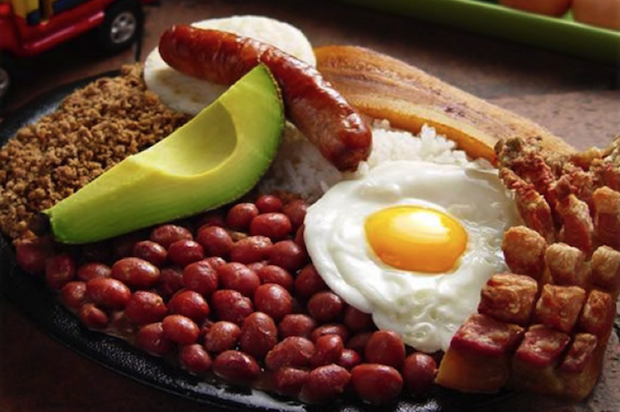 The bandeja paisa is a popular Colombian food.