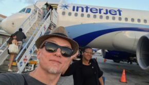 Ready to board: Flying Interjet from Cancun.