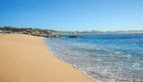 The beach at the Westin Los Cabos hotel.