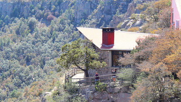 Hotel Divisadero is a scenic hotel in Mexico's Copper Canyon.
