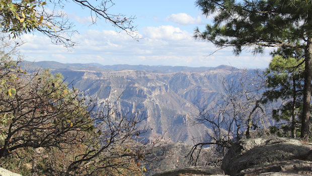 Spectacular scenery at Mexico's Copper Canyon.