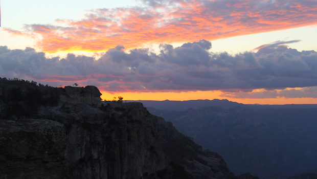 Sunrise over Mexico's Copper Canyon.