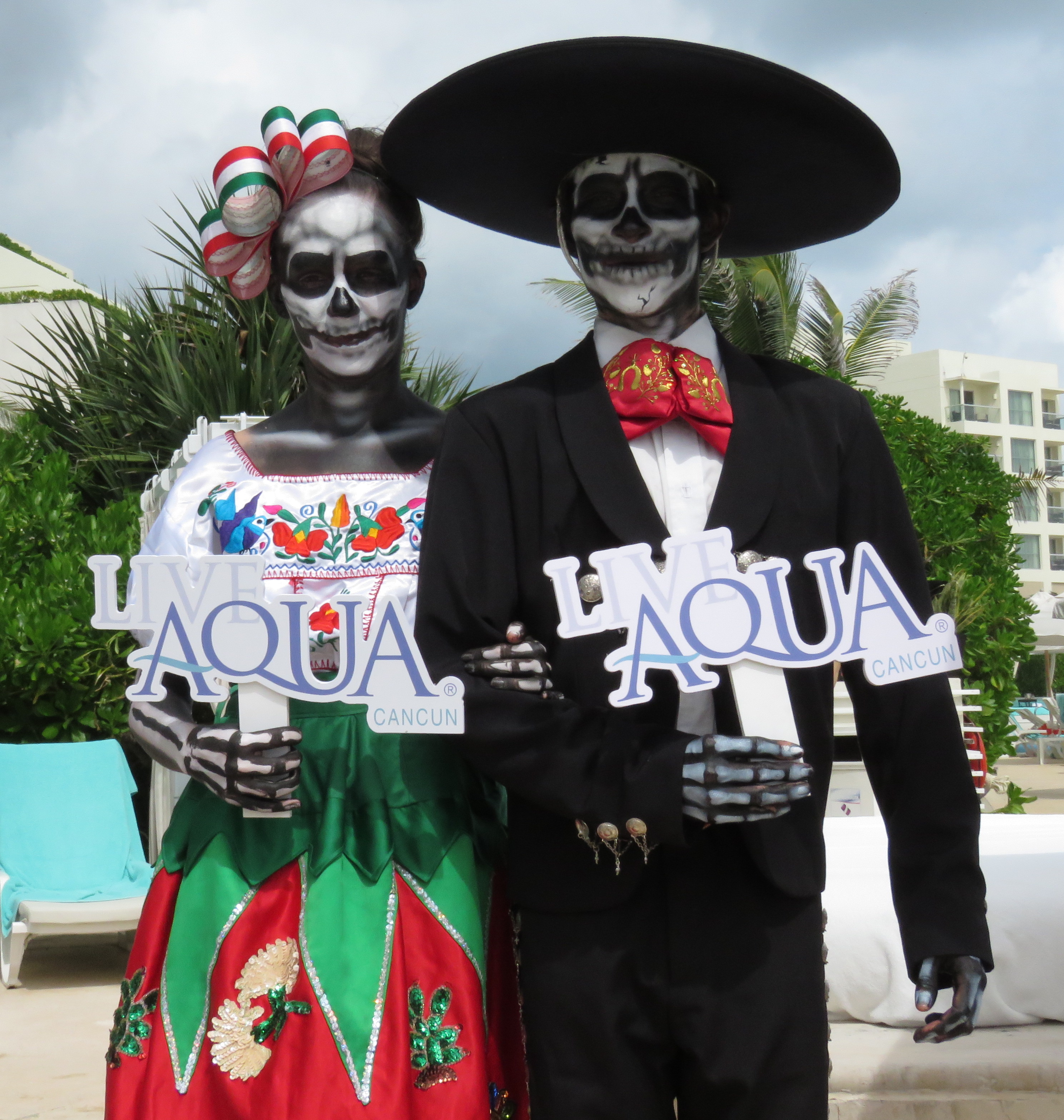 Day of the Dead festivities at Live Aqua Resort Cancun.