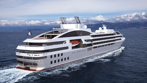 Le Soléal is the newest cruise ship in the Ponant fleet.