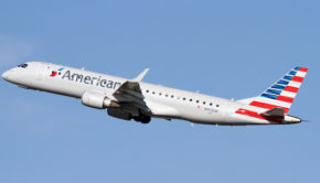 American Eagle flies the Embraer ERJ-190 on some Mazatlan flights.