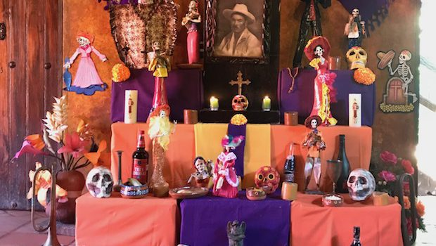 Day of the Dead altar at El Meson de los Laureanos in El Quelite, Mexico.