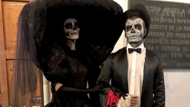 Day of the Dead costumes in Mazatlan, Mexico.