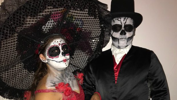 Handsome Day of the Dead couple in Mazatlan, Mexico.