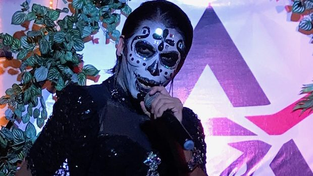 It's a drag queen Day of the Dead celebration at PP Club in Mazatlan.