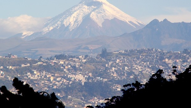 Quito surrounded by mountains