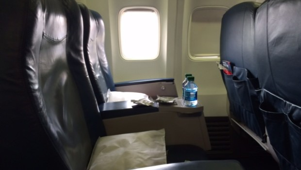 First Class Airline Seating Aboard Delta Air Lines Boeing 737
