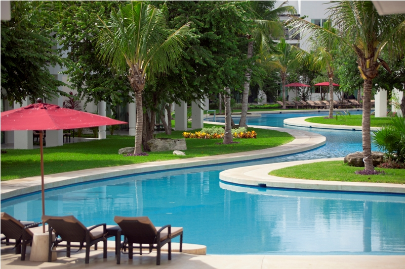 One Of The Most Beautiful Parts Azul Fives Resort In Riviera Maya Is Winding Swimming Pool